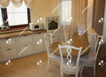 Столешница для кухни из кварцевого камня. Столешница для острова круглая из кварцевого камня