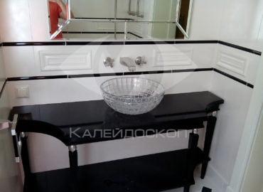 Столешница для ванной комнаты из черного акрилового камня Tristone Dark Cave